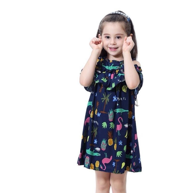 90138a3a53b Acheter Robe À Volants Pour Bébé Fille 2019 Été Nouvelle Mode Vêtements  Pour Enfants Robes De Soirée Pour Enfants Filles Marque Princesse Coton Robe  Fraîche ...
