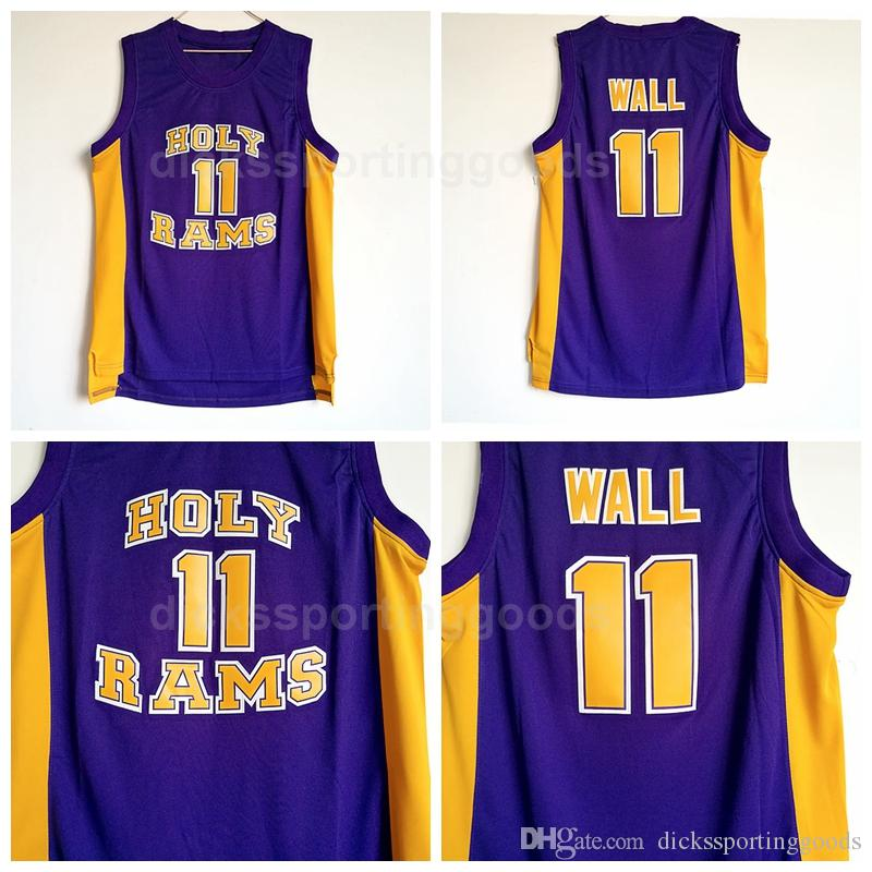 new product dfb30 9fc3d NCAA College Men 11 John Wall Holy Rams Jerseys Basketball University John  Wall Jersey Man Breathable For Sport Fans Free Shipping