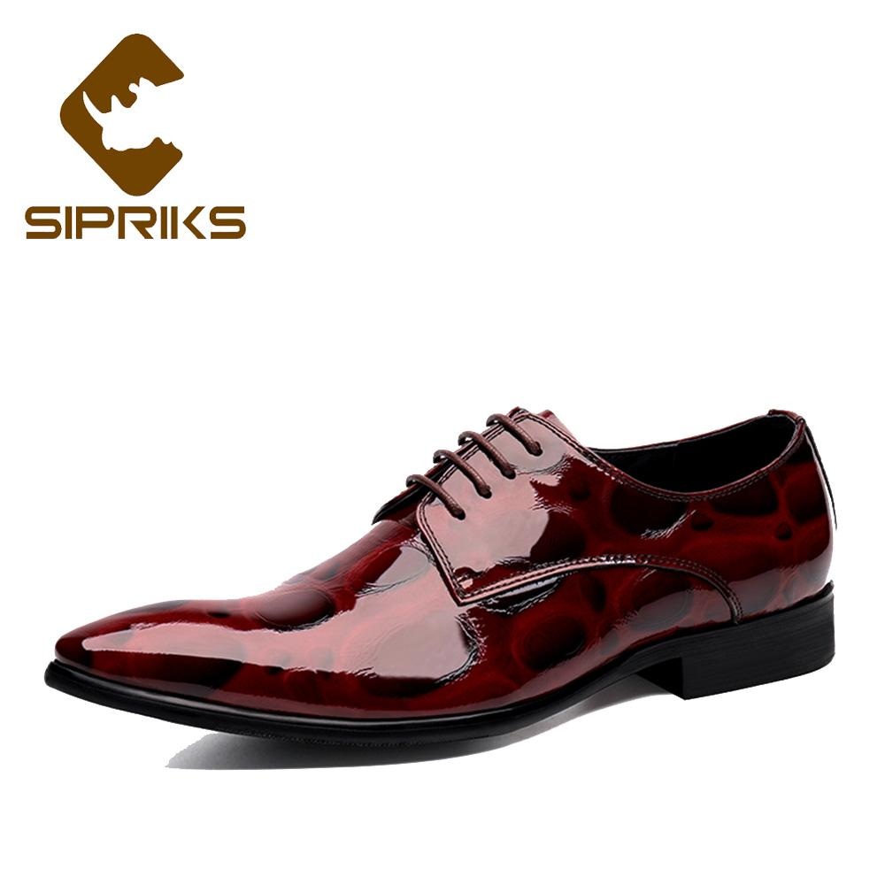 2ca76375b Sipriks Mens Patent Leather Dress Shoes British Pointed Toe Business Office Shoes  Boss Gents Suits Social Shiny Leather 44 High Heel Shoes Mens Casual Shoes  ...