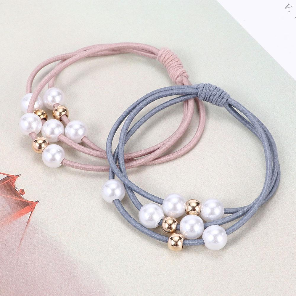 Multi Layer Hair Rope Pearl Ponytail Holder Scrunchies Hair Rope Elastic  Rubber Band Fashion Hair Accessories For Wedding Hair Accessories Wedding  From ... 5ff4cdb8459