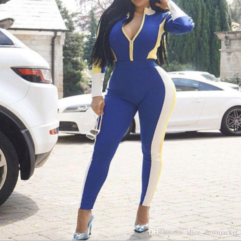 95deef88f24 Cheap Jumpsuit Designs for Women Best One Shoulder Long Sleeve Jumpsuit