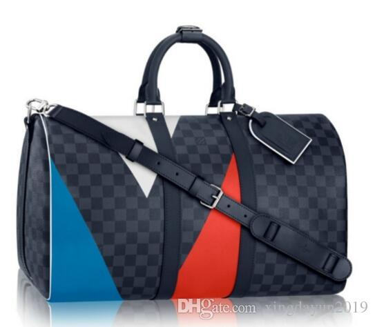 a25047bad0e8 LOUIS VUITTON SUPREME Keepall 45cm Travel Bag Luggage Package ...