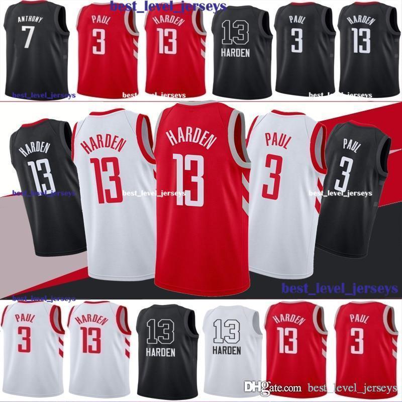 quite nice fb0ce 42661 Houston jerseys Rockets James 13 Harden jersey harden jerseys Youth Carmelo  7 Anthony jerseys Chris 3 Paul jersey hot sale fast shipping