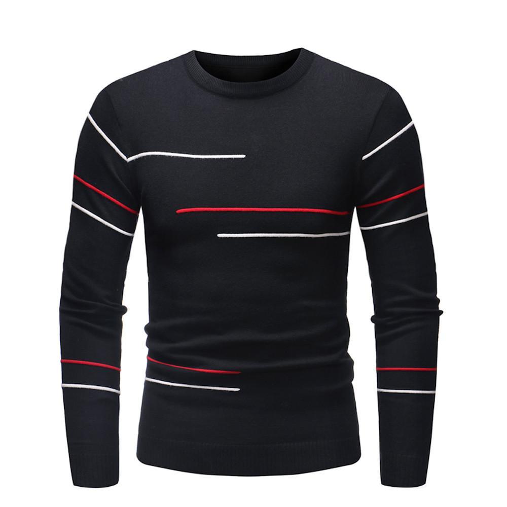 a9846e6a72 Compre FeiTong Primavera Camisola Dos Homens 2019 Streetwear Mens Roupas  Camisola Pullover Magro Jumper Malhas Outwear Blusa De Rachaw