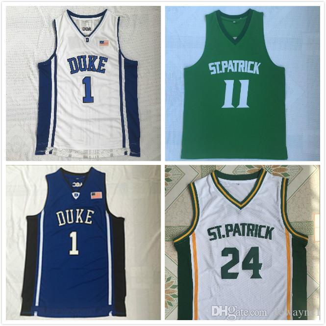 the latest 0318c cbf72 24 11 Kyrie Irving High School ST Patrick DUCK Jerseys Men For Sport Fans  Breathable Irving Basketball Jerseys Team Color White Sale