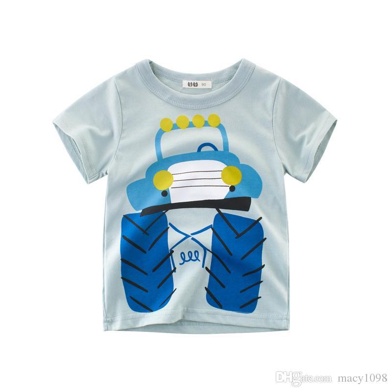 7f272a490 Compre Monster Baby Boys Camisetas Para Niños Camisetas De Algodón Tops  Niños Del Cabrito Fresco Trajes Ropa T Corto Corto De Alta Calidad Nueva  Moda Verano ...