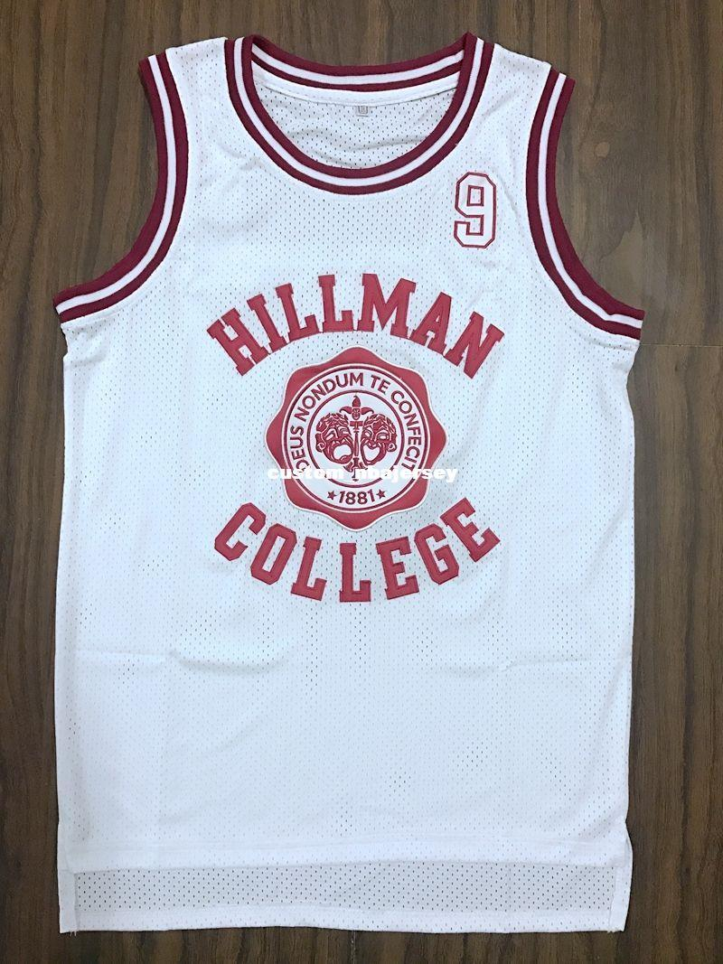 ec7a3c37dd5a 2019 Cheap Custom Dwayne Wayne 9 Hillman College Theater Basketball Jersey  White Stitched Customize Any Number Name MEN WOMEN YOUTH XS 5XL From ...