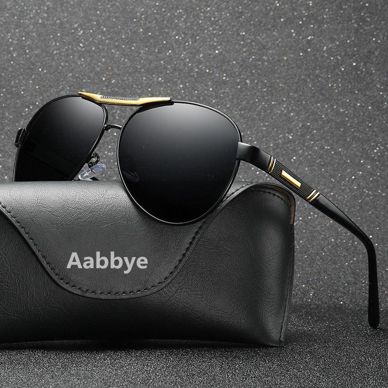 06d5ce53f2 Compre Aabbye Gafas De Sol Polarizadas Hombres Negro Fresco Viaje Gafas De  Sol De Alta Calidad TAC Lens Marca De Diseño Gafas De Sol Mujer Oculos A  $47.58 ...