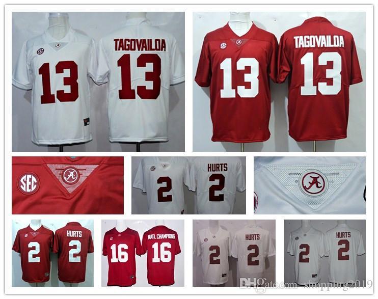 55509268d 2017-2018 Season Alabama Crimson Tide 13 Tua Tagovailoa 2 Jalen ...