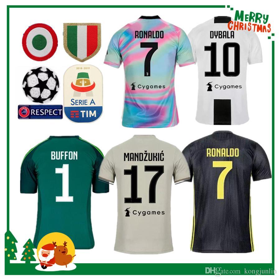 Compre Fan Versão 19 19 Juventus RONALDO DYBALA HIGUAIN POGBA Camisa De Futebol  2018 2019 Itália Juve MARCHISIO BUFFON MANDZUKIC Home Longe Camisa Homem De  ... 0c13140db8a87