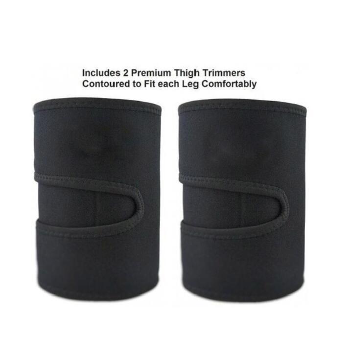 Leg Shaper Sauna Sweat Thigh Trimmers Calories off Warmer Slender Slimming Legs Fat Thermo Neoprene Compress Belt Face Lift Tool