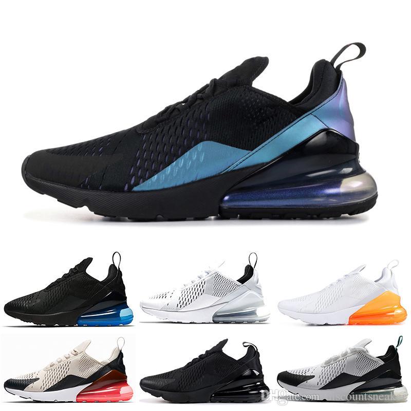 Compre 2019 Nuevo Color Nike Air Max 270 Para Mujer Diseñador De Lujo Pisos Casual Brand Shoes Triple Negro Blanco Rosado Bule Mujer Deportes