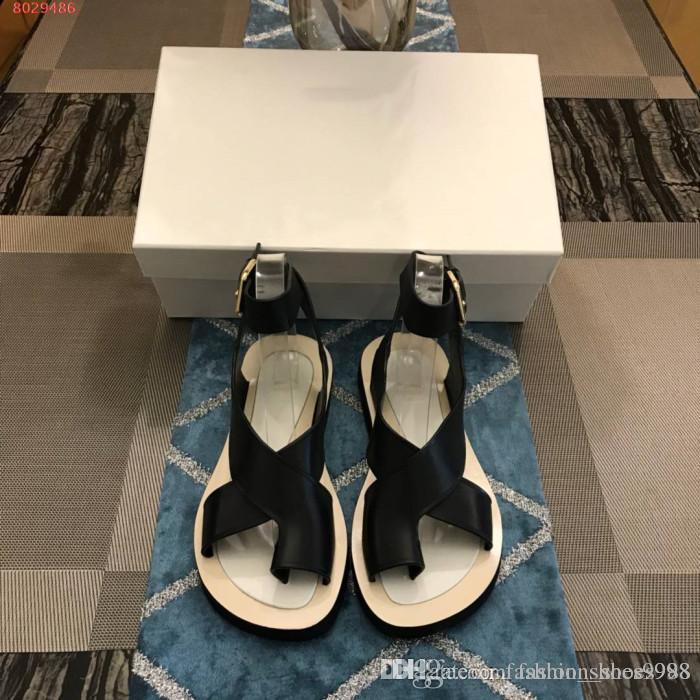 f4579ec79a2baf Female Summer Thick Bottom Pinch Toes Flat Sandals Cross Lacing ...