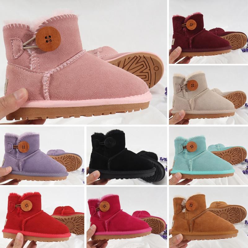 2020 new Hot sell shoes Boys and Girls Australia Style Kids Baby Snow Boots Waterproof Slip-on Children Winter Cow Leather Boots Brand XMAS
