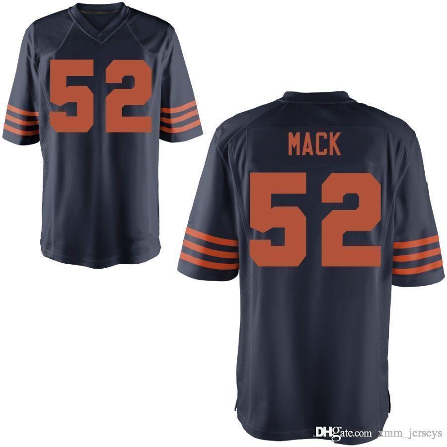 official photos 66042 861e3 Chicago Bears #52 khalil Mack jersey Mens 10 Mitchell Trubisky 54 Brian  Urlacher 34 Walter Payton 24 Howard 29 Tarik Cohen