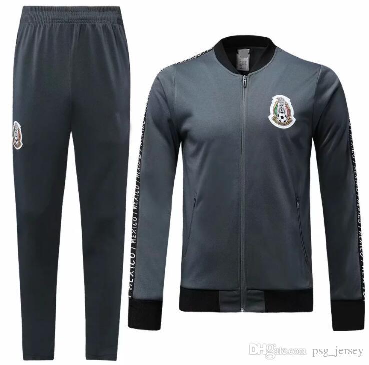 Nuevo 19 20 México Chaqueta México Chándal campeones Maillots de pie CHICHARITO LOZANO DOS SANTOS trajes de entrenamiento KIT de fútbol Top camisa