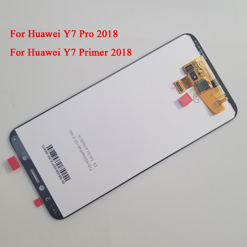 For Huawei Y7 Pro 2018 / Y7 Prime 2018 LCD Display Touch Screen Digitizer  Assembly With Frame Black/White/Gold 5 99 inch