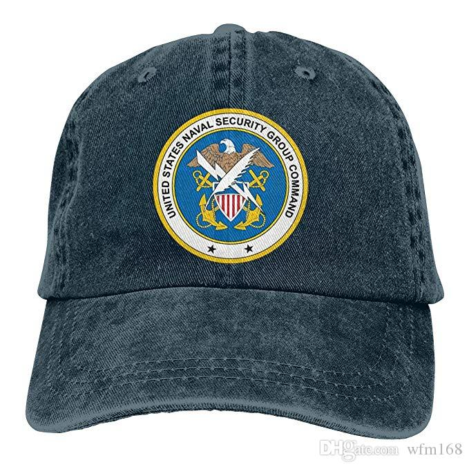 2019 New Custom Baseball Caps US Navy Naval Security Group Command Mens  Cotton Adjustable Washed Twill Baseball Cap Hat Custom Fitted Hats Design  Your Own ... f148bde8952