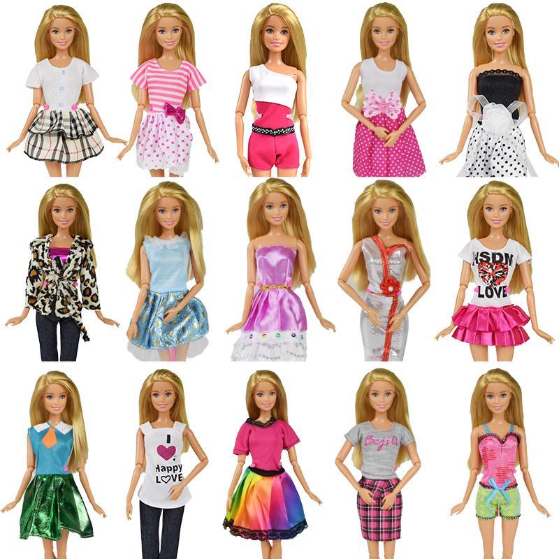 4310d121470f 9 artículo / conjunto de accesorios de muñeca = 3 piezas de ropa de muñeca  vestido 3 gafas azar 3 pares de zapatos para Barbie Doll Girl Toy mejor ...