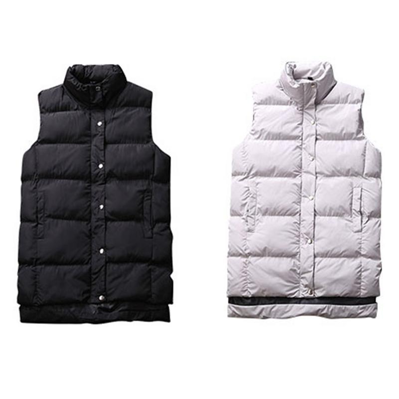 d5d60a0f7be759 2019 Casual Men S Long Vest Polyester Fiber Nylon Jacket Winter Men S Warm Sleeveless  Vest Coat Soft Comfortable Style Light Gray New From Hongxigua