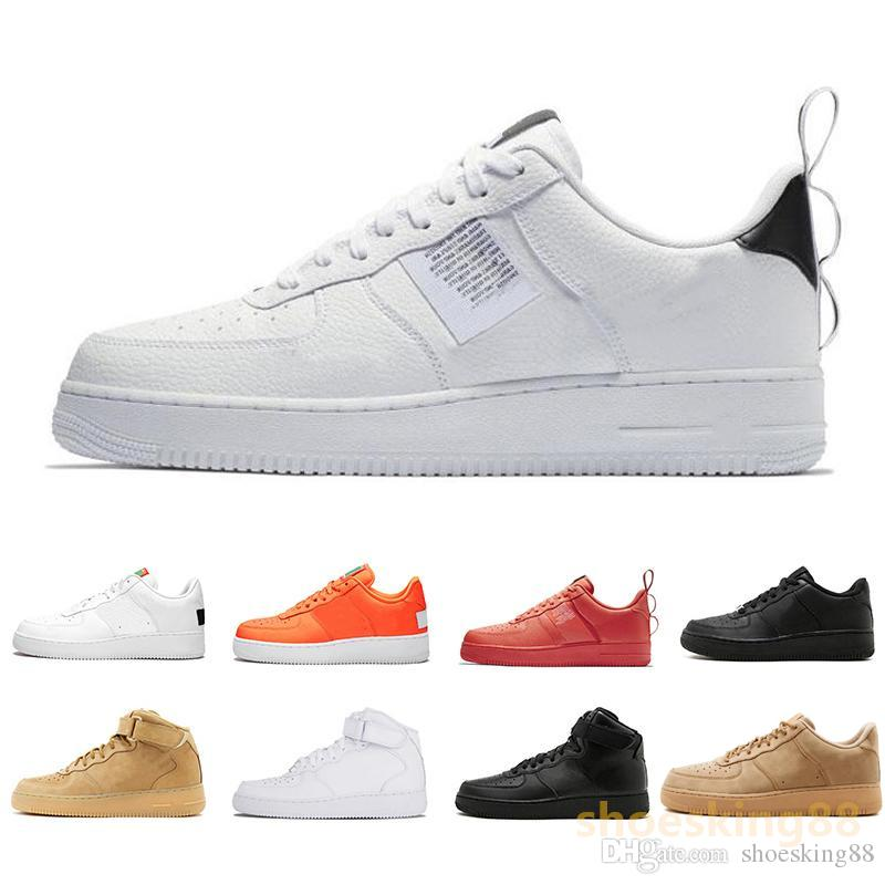 Dunk Wheat Sneakers Utilitaire Sport Low Air Noir Blanc Just Cut Rouge Orange Hommes High One Force 2019 Nike Chaussures Trainers Casual Femmes 1 j54AL3R
