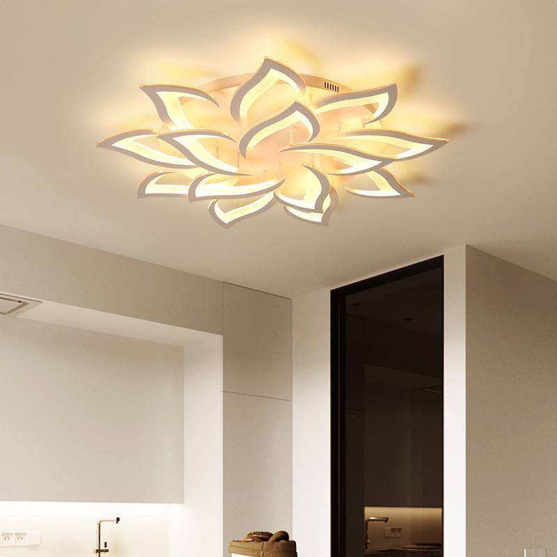 Ac85v~260v Modern Led Ceiling Lights For Living Room Bedroom Creativity Flower Type Lighting Fixtures Ceiling Lamp Free Shippin Lights & Lighting