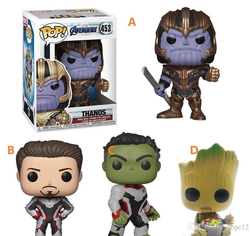 Nouveaux Enfants Avec Pop AvengersJouets Figurine Fer Funko Endgame Poupée Avengers Cartoon Thanos Hulk Groot De 4 Homme Styles 2019 QdxBsCthr