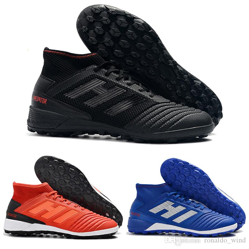 97f3ea01ef0 Mens High Ankle Football Boots Predator Tango 19.3 IC TF Soccer Shoes  Original Predator 19.3 X Pogba Indoor Turf Soccer Cleats Mens Shoes Loafers  From ...