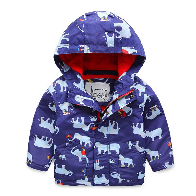2b2a78c17 Plus Velvet Warm Children Jackets Spring Autumn Waterproof Windproof ...
