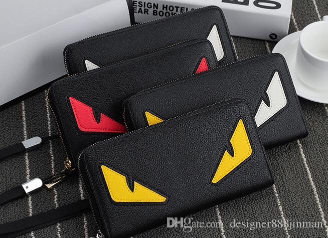 Men's Little Monster Wallet Men's Long Zipper Personality Clutch Bag Japan and South Korea Fashion Casual Youth Cartoon Handbags