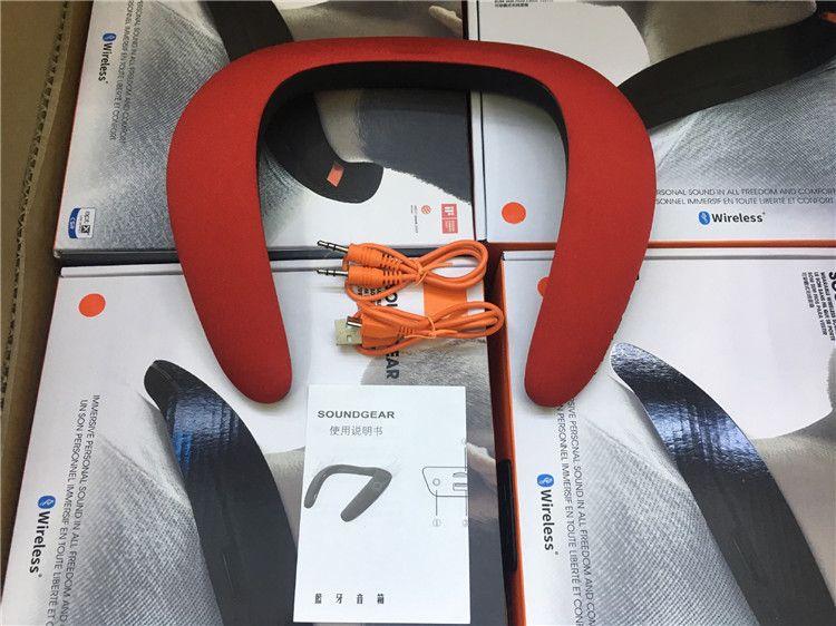 NOVA ENGRENAGEM SOUND Mini Portátil Alto-falantes Bluetooth Sem Fio Inteligente Hands-free Pescoço Speaker Grande Potência Subwoofer DHL FEDEX
