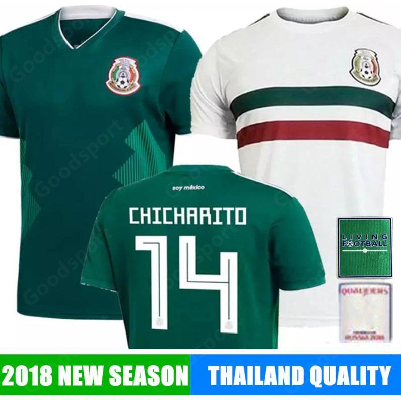 new product 62ef6 a1275 2018 MEXICO Soccer away Jersey CHICHARITO LOZANO CHUCKY DOS SANTOS PERALTA  HERRERA LAYUN MARQUEZ shirts football world 19
