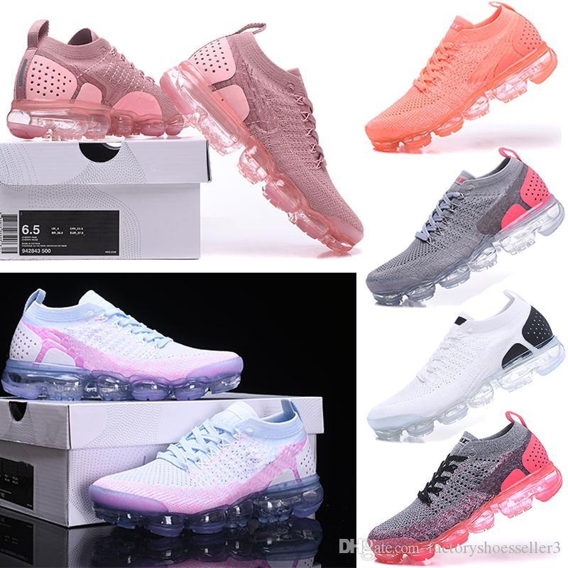 newest a4bf5 ae3e3 Acquista Nike Air VaporMax 2018 Flyknit 2.0 New Air Rainbow BE TRUE Scarpe  Da Corsa Da Donna Di Design In Oro Nero Rosa Donna A  35.6 Dal ...