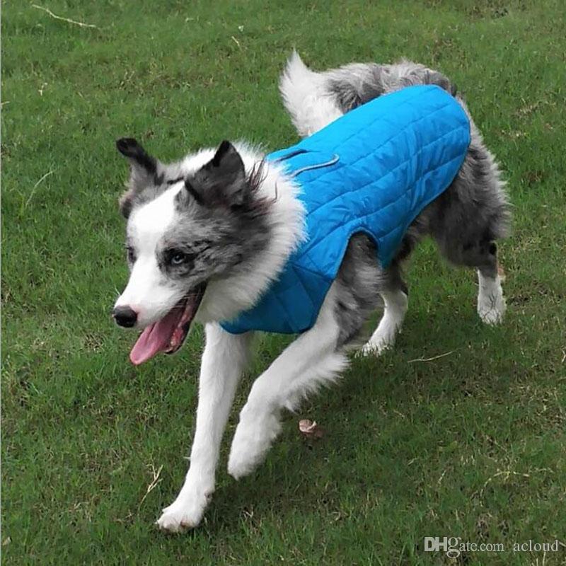 Herbst Und Winter Neue Haustier Hund Jacke Plaid Größe Hund Kleidung Liefert Hund Mantel Wasserdichte Jacke
