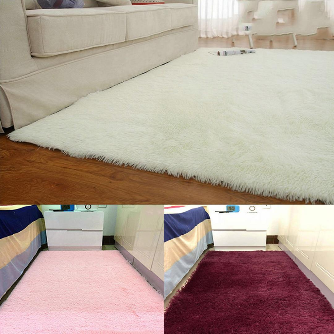 Mother & Kids Baby Playmats Wool Imitation Sheepskin Rugs Faux Fur Bedroom Shaggy Carpet Window Mats Livingroom Decor Sofa Office Mats Activity & Gear