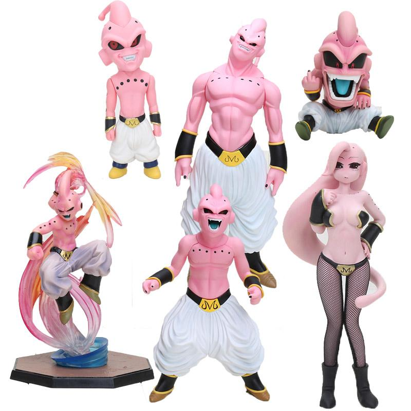 Anime Dragon Ball Z Super Saiyajin Majin Buu menina Boo mal MX191105 brinquedo Buu PVC Action Figure Collectible Modelo Dragonball