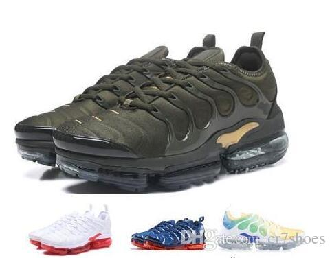 premium selection 05849 df3db Designer Luxury 2019 TN Plus Running Shoes Sneakers Mens Women Man Trainers  Tennis Triple Green Tns Cargo Neon Classic Run Sport Brand Shoes Best  Running ...