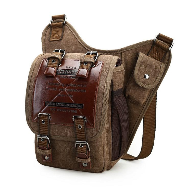 Hot High Quality Multifunction Men Canvas Bag Casual Travel Bolsa Masculina
