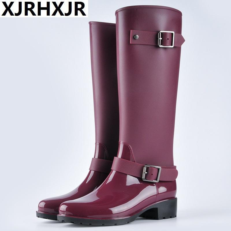 c0651c54 Compre Nuevas Botas Para Mujer Botas De Lluvia Para Mujer Zapatos  Impermeables Largos Antideslizantes Para Lluvia En El Tubo De Agua Para  Mujeres Adultas A ...