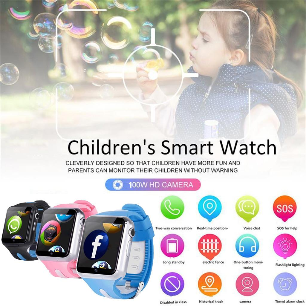 2019 New Fashion GPS Kids Smart watch with Camera SOS Location Device Tracker baby Safe Anti-lost Relogio Drop Shipping