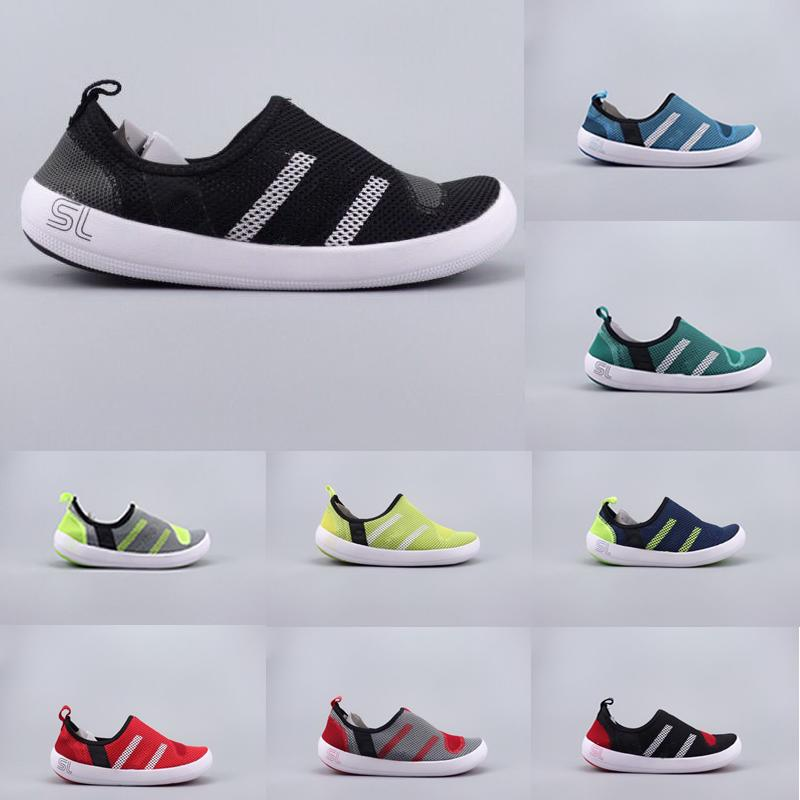 new styles 207f1 1f5f5 New Climacool Shoes Man Women Outdoor Boat CC Lace Water Shoe Cheap Fashion  Shoes Climacool Men Women Breathable Water Grip Sneakers