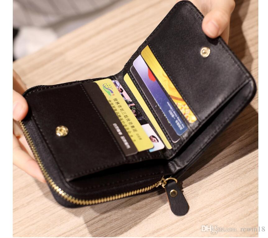 af36a82eb5c3 Womens Short Leather Wallet Card Holder Zip Coin Purse Clutch Handbag Short  Wallet Coin Purse Clutch Online with $6.23/Piece on Rewin18's Store |  DHgate.com