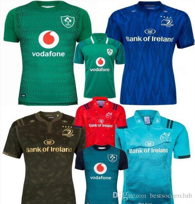 18 19 Ireland Rugby Jerseys Irish IRFU NRL Munster City Rugby League  Leinster Alternate Jersey 2018 2019 Ulster Irishman Shirts Size s--3xl  Ireland Rugby ... 90ef33a7b