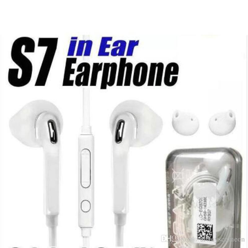 Original Quality Earphones For S7 S6 edge Galaxy Headphone High Quality In  Ear Headset With Mic Volume Control For Iphone 5 6s WithRetail