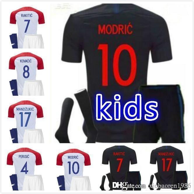 2989b6566 2019 Kids Kit MODRIC MANDZUKIC PERISIC 2018 World Cup MODRIC Soccer Jersey  2019 KOVACIC  8 RAKITIC  7 SRNA  11 BROZOVIC  14 Kids Football Shirt From  ...