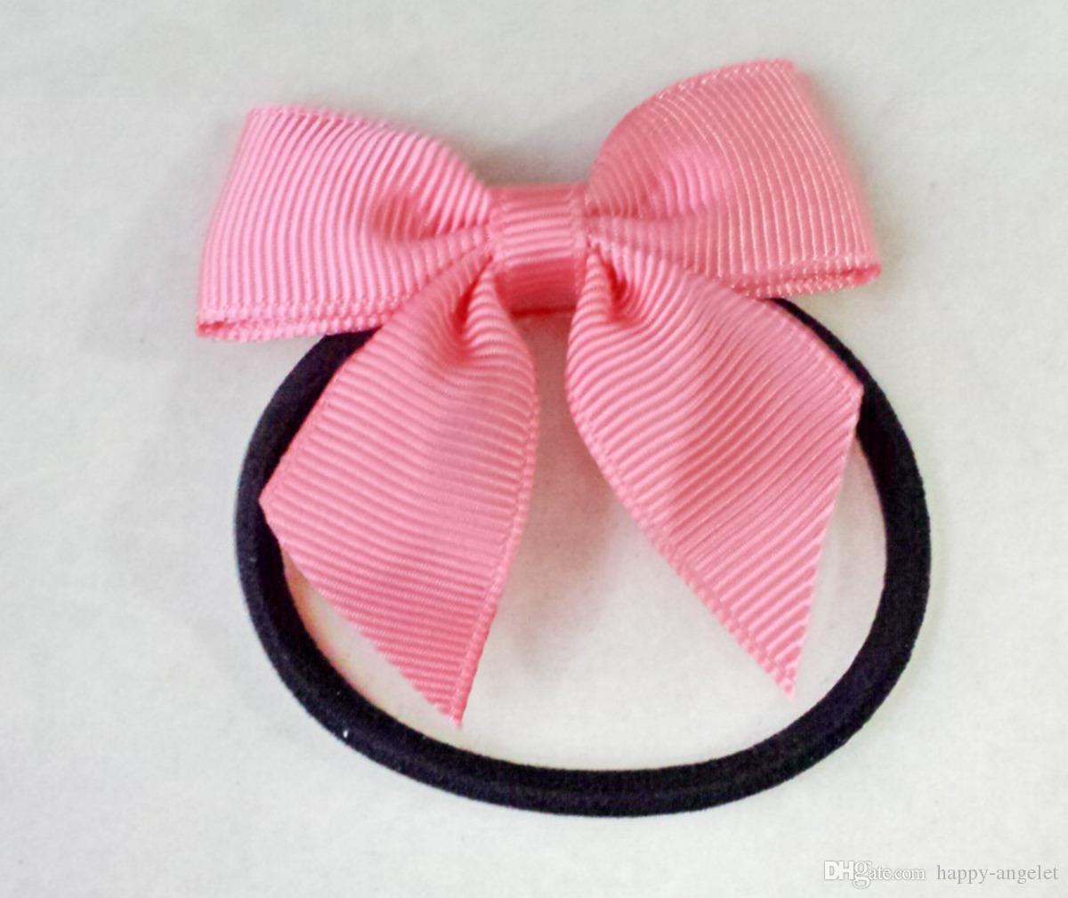"Baby Girl 2"" mini Hairbow Hair Bows Clips Kids Boutique grosgrain Ribbon bowknot Alligator Hairpin headwear Accessaries HD3303"