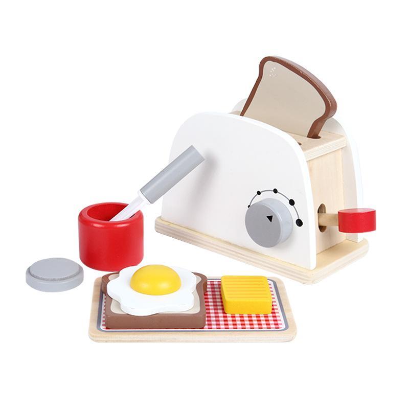 Spielhaus Kuche Spielzeug Holz Mini Omelette Brot Backen Diy Puppenhaus Kit Miniatur Essen Madchen Machen Fruhstuck Kinder