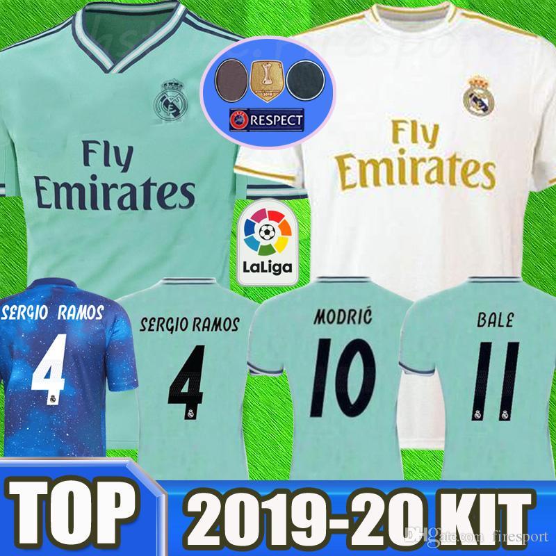 the best attitude 3640b 4ca7b 2019 Real Madrid Soccer Jerseys 18/19/20 Green Home kit MODRIC MARCELO 2020  VINICIUS JR KROOS ISCO ASENSIO BALE EA Sports Football Shirts