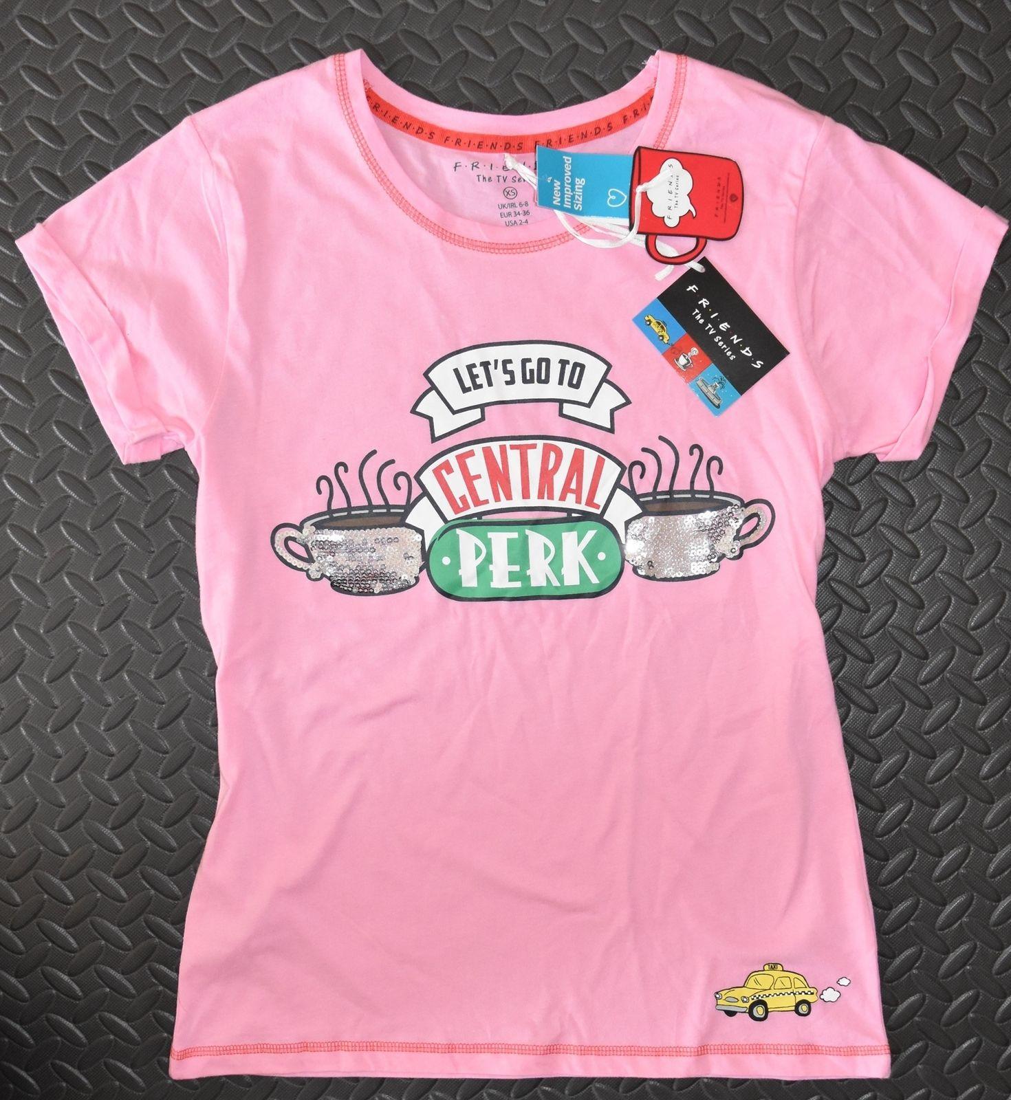 0f685217275639 Friends Primark Pj T Shirt Loose Fit Central Perk Sequin Womens Ladies Uk  Sizes Cool Casual Pride T Shirt Men Unisex Tee Shirt Designers Funny Print  T ...