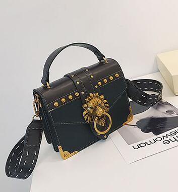 2018 New Brand Shoulder Bags Female Lion Head Lock Handbag Women PU Leather  Messenger Crossbody Bags Fashion Party Clutch Leather Bags Designer Purses  From ... 078647fd14d6c